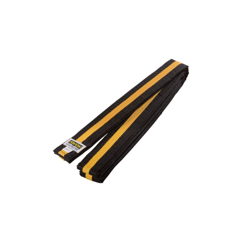 Kwon Clubline Softgürtel 4cm schwarz gelb schwarz