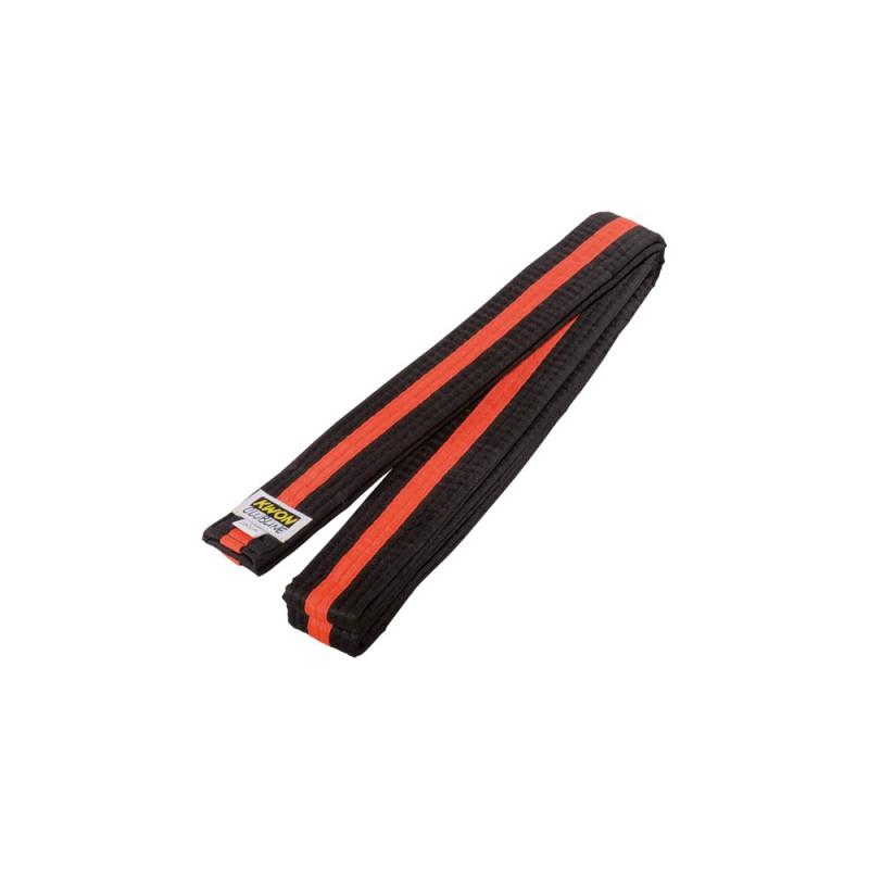 Kwon Clubline Softgürtel 4cm schwarz orange schwarz