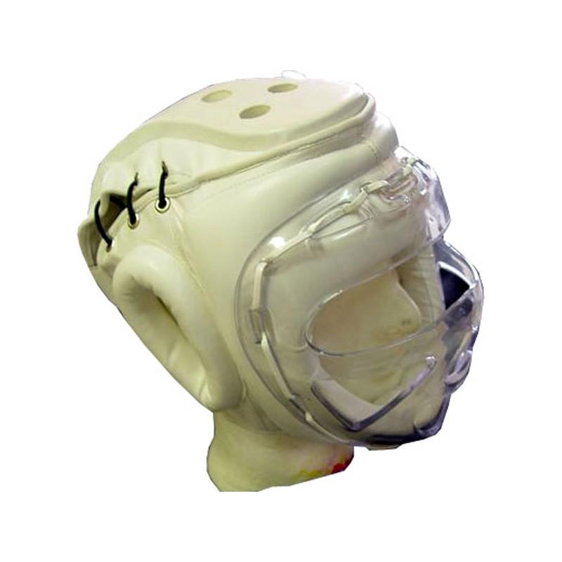 Kopfschutz Weiss Plexiglasvisier