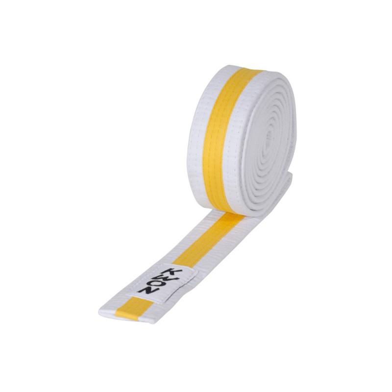 Kwon Budogürtel 4cm weiss gelb weiss