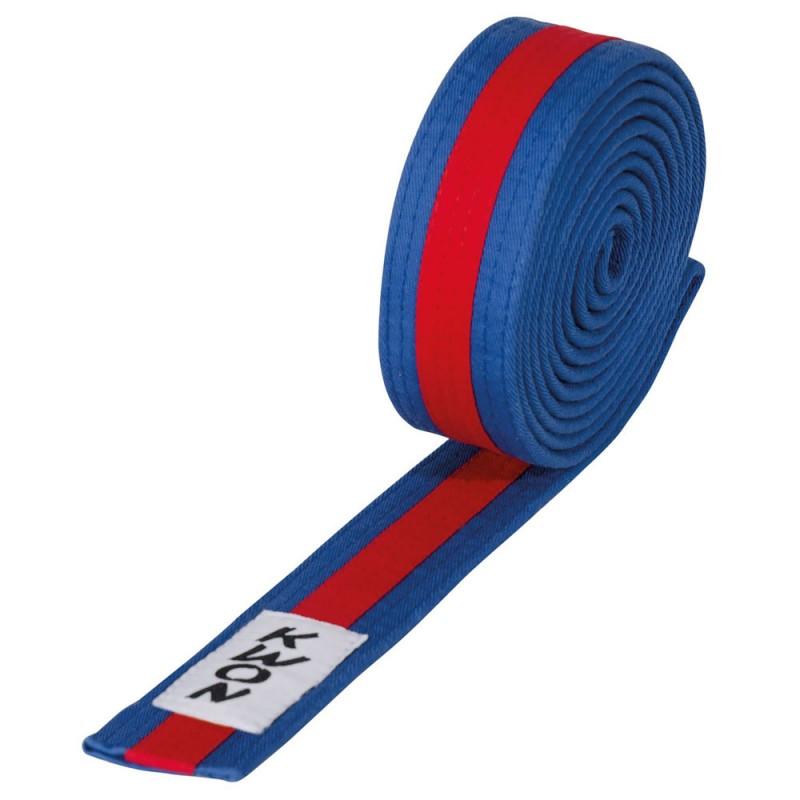 Kwon Budogürtel 4cm blau rot blau