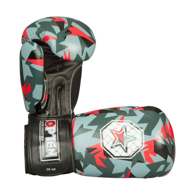Top Ten Jungle Boxhandschuhe Schwarz Rot