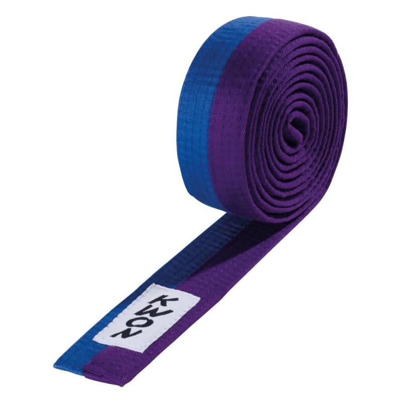 Kwon Budogürtel 4cm blau violett