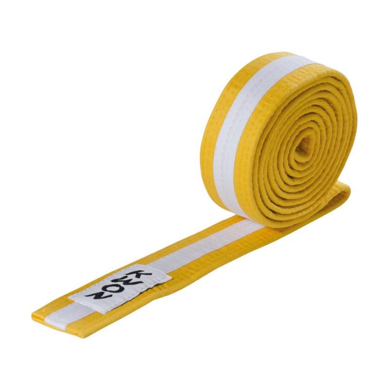 Kwon Budogürtel 4cm gelb weiss gelb