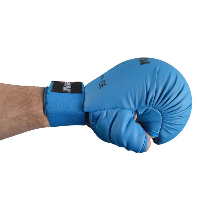 SMAI WKF Karate Handschutz Mit Daumen Blau