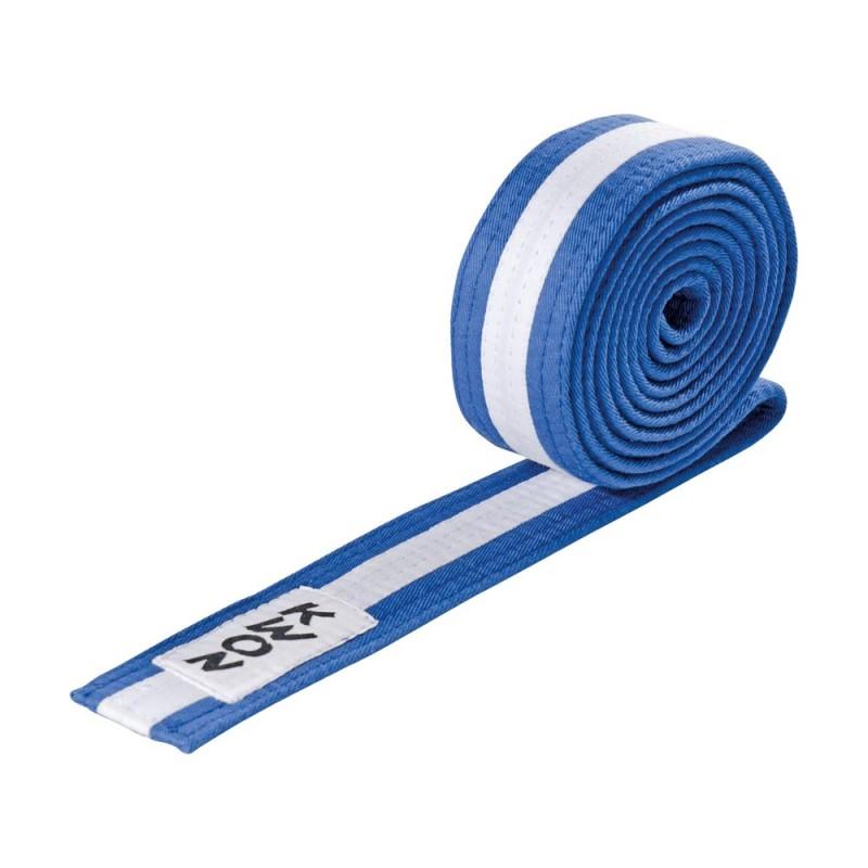 Kwon Budogürtel 4cm blau weiss blau