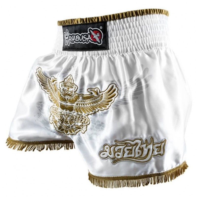 abverkauf hayabusa garuda muay thai short white g nstig. Black Bedroom Furniture Sets. Home Design Ideas