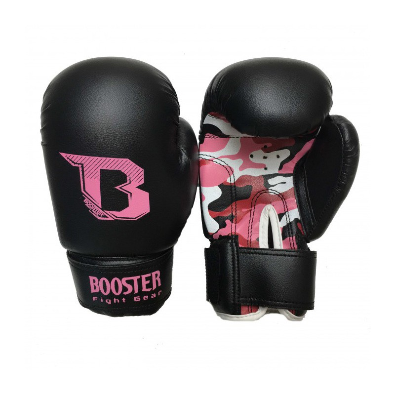 Booster BT Kids Duo Boxing Gloves Camo Pink Skintex