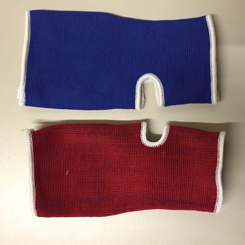 Achillessehnen Knöchelschoner Wendebandage Blau Rot
