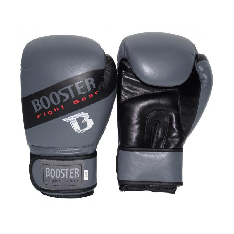 Booster BT Sparring Gloves Grey Stripe PU