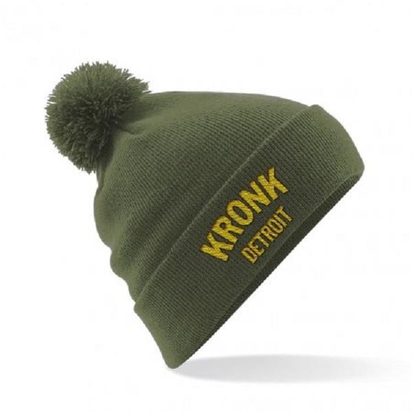 Kronk Detroit Bobble Ski Hat Dark Green