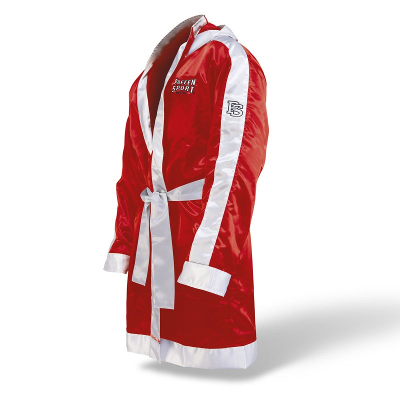 Paffen Sport Boxermantel mit Kapuze Rot Weiss