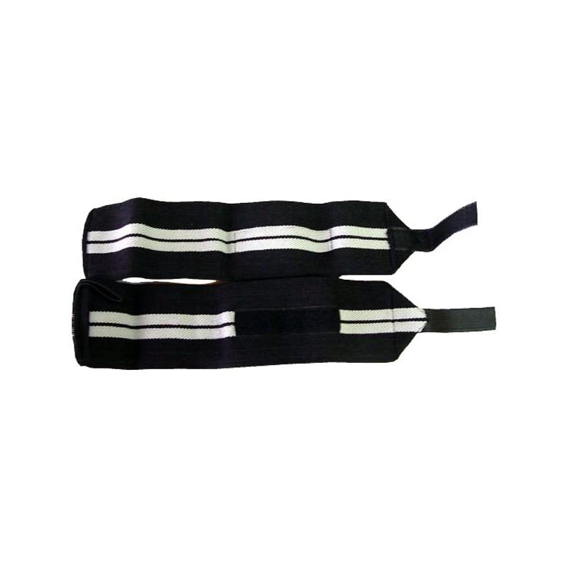 Handgelenksbandagen Wristbands Elastisch Schwarz Weiss