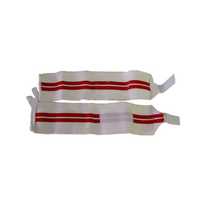 Handgelenksbandagen Wristbands Elastisch Weiss Rot