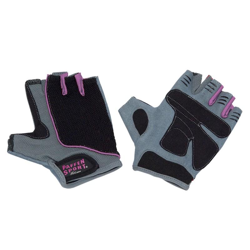 Abverkauf Paffen Sport Lady Fitness Handschuhe Schwarz Grau Pink