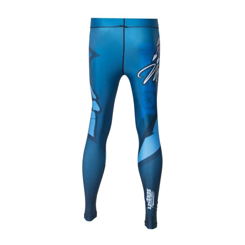 Top Ten Mohican Kompressions Hose Leggings Blau