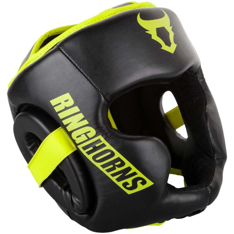 Ringhorns Charger Headgear Black Neo Yellow