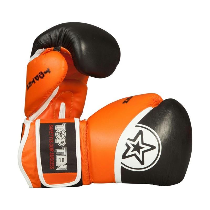 Top Ten Thai Boxhandschuhe Schwarz Orange