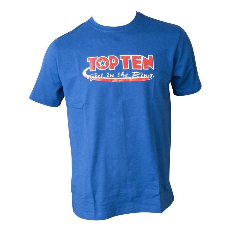 Top Ten Get In The Ring T-Shirt Blau