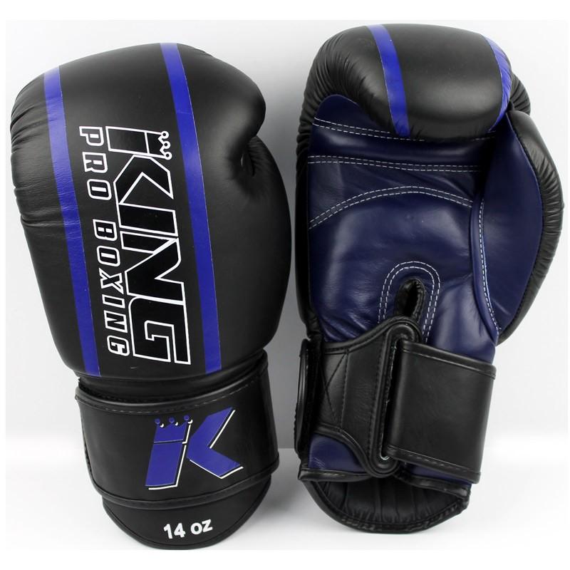King Pro Boxing KPB BG Elite 2 Boxhandschuhe Leder Blue
