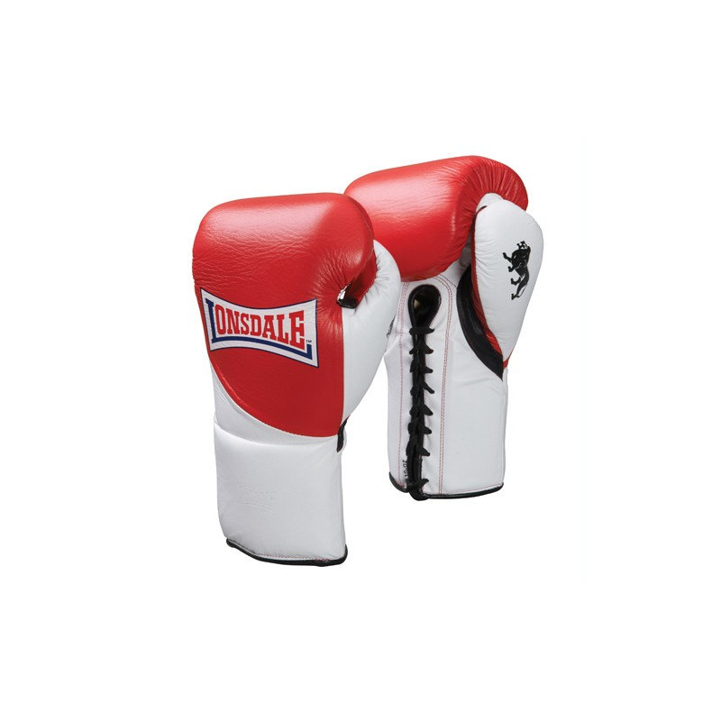Lonsdale Ultimate Pro Fight Contest Leder Boxhandschuhe Red