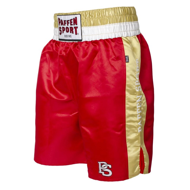 Paffen Sport Pro Mexican Profi Boxerhose Rot Gold