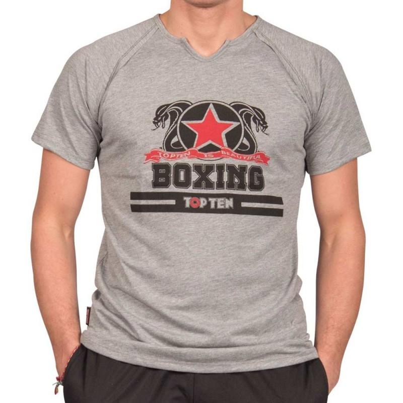 Top Ten Boxing T-Shirt Grau