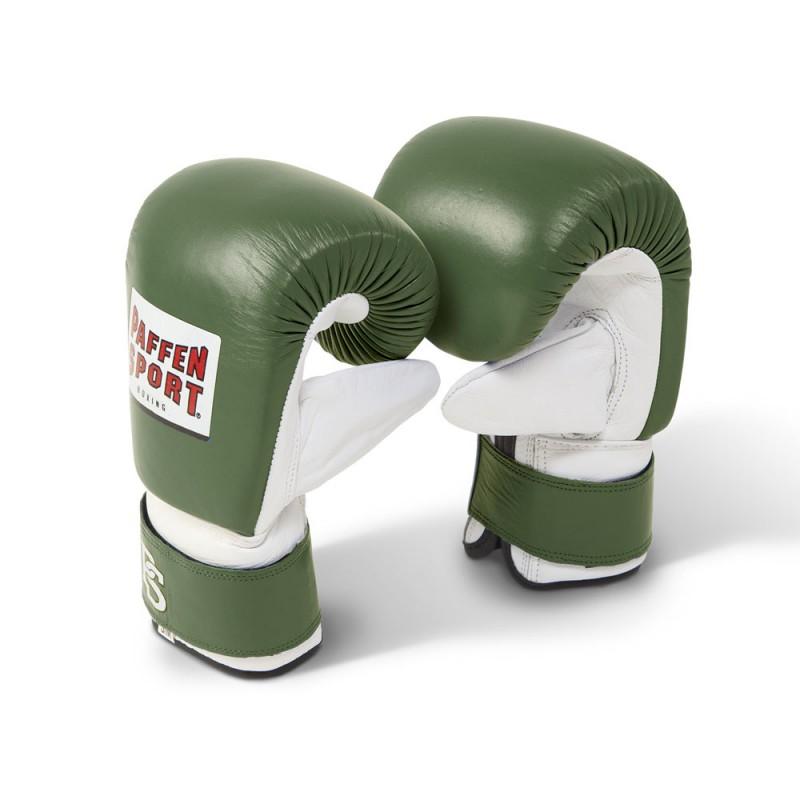 Paffen Sport Pro Boxsack Handschuhe Oliv Weiss
