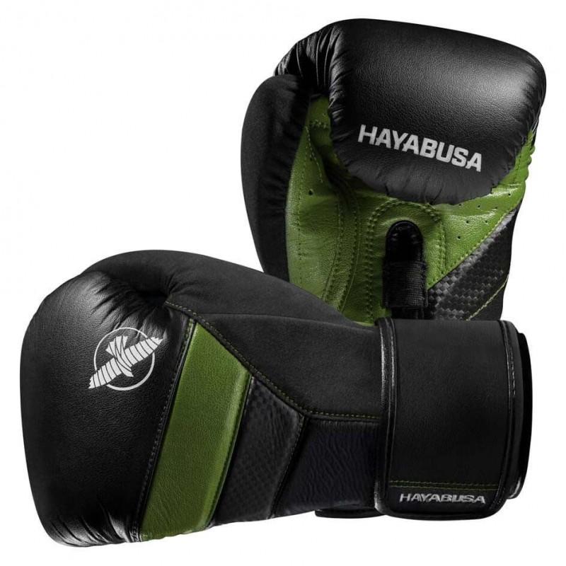 Hayabusa T3 Boxing Gloves Black Green