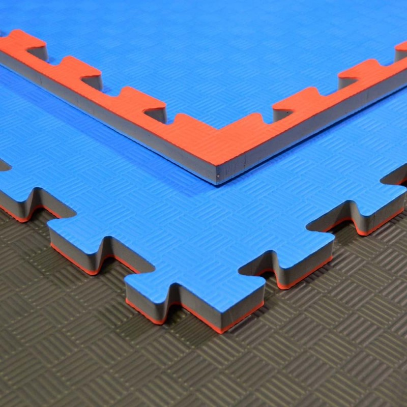 Phoenix Puzzlematte 100x100x2cm rot blau