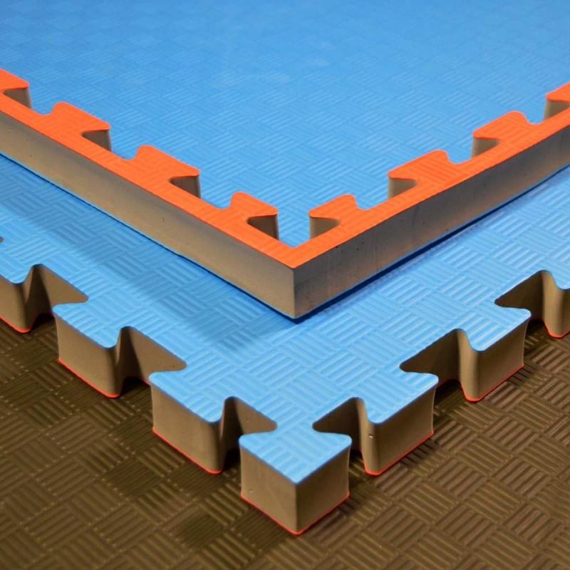 Phoenix Puzzlematte 100x100x4cm rot blau