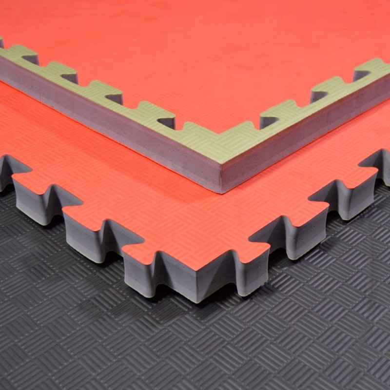 Phoenix Puzzlematte 100x100x4cm rot grün