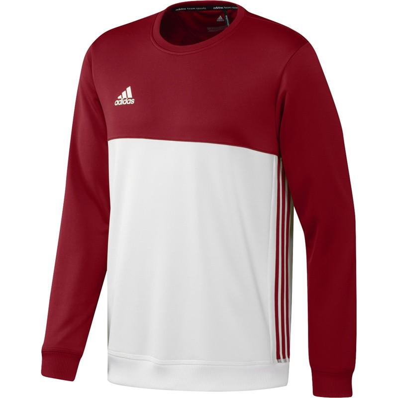 Abverkauf Adidas T16 Team Sweater Männer Power Rot Weiss