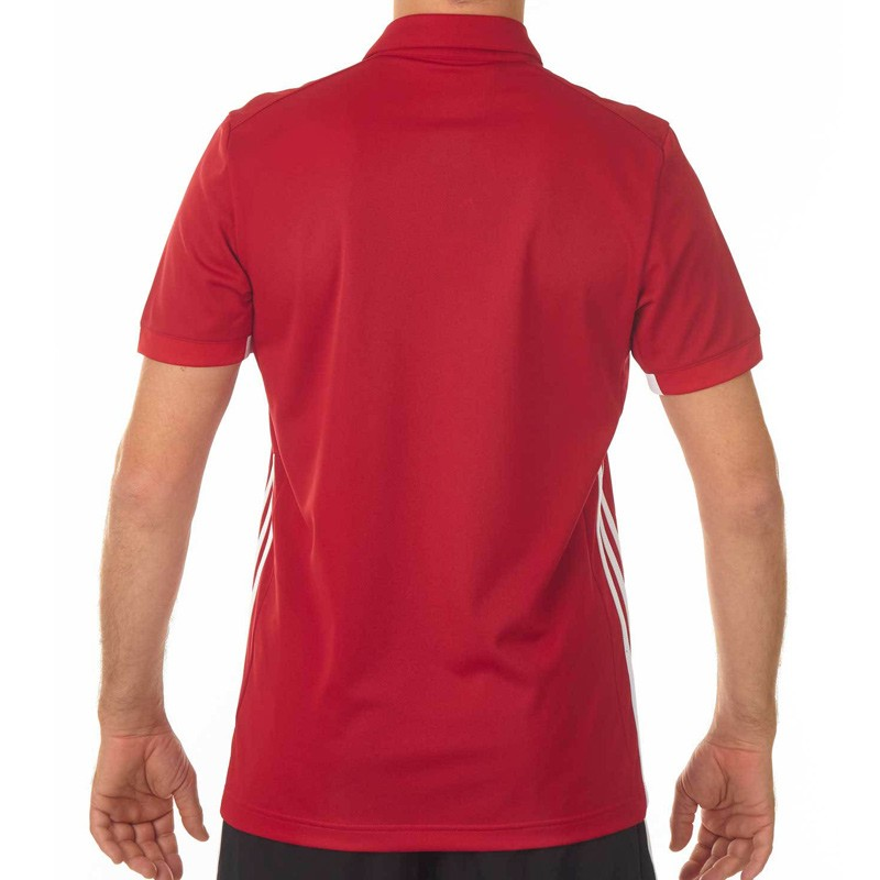 Abverkauf Adidas T16 Team Polo Männer Power Rot Weiss AJ5279