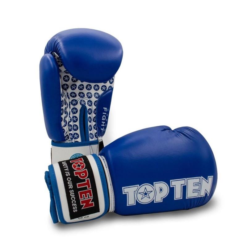 Top Ten Fight Boxhandschuhe Blau 10oz