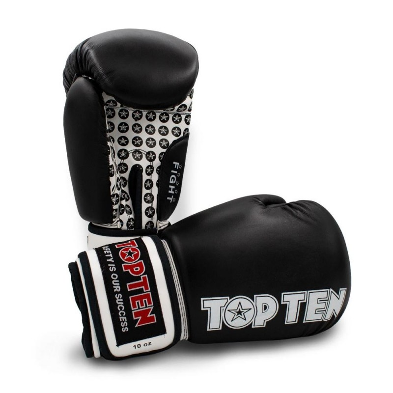 Top Ten Fight Boxhandschuhe Schwarz