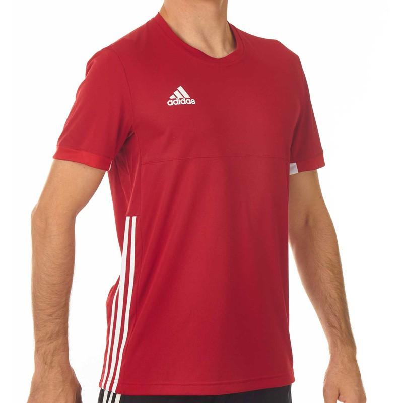 Abverkauf Adidas T16 Team T Shirt Männer Power Rot Weiss