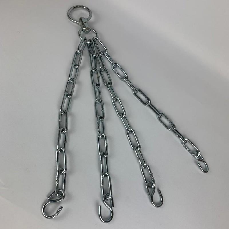 Haken mit 4 Ketten Stahl Massiv Drehwirbel Verstärkt