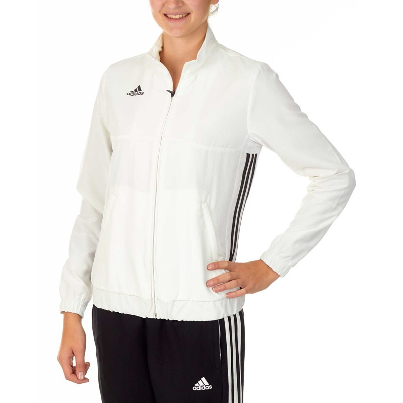 Adidas T16 Team Jacke Damen Weiss Schwarz AJ5329 günstig