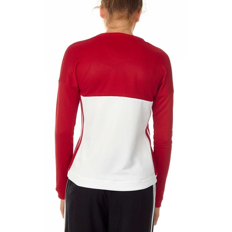 Abverkauf Adidas T16 Team Sweater Damen Power Rot Weiss