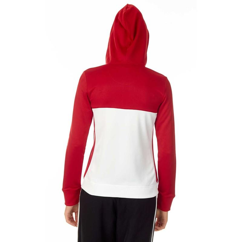 Adidas T16 Team Hoodie Damen Power Rot Weiss AJ5406 günstig kaufen ... f57ee4ad6e
