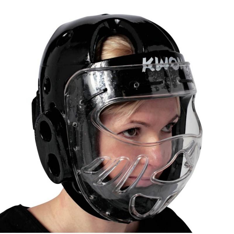 Kwon KSL Kopfschutz WT mit Visier schwarz