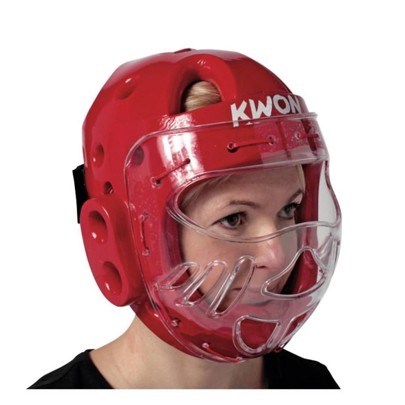Kwon KSL Kopfschutz WT mit Visier rot