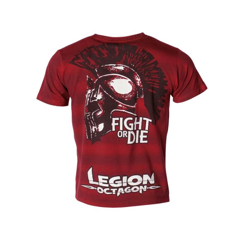 Legion Octagon Fight or Die T-Shirt rot
