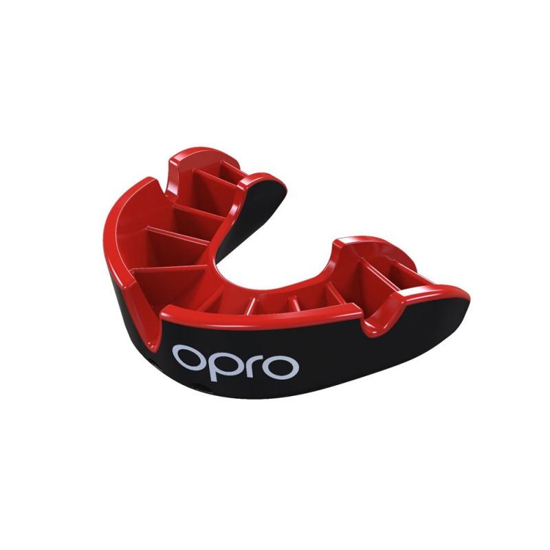 Opro Silver Zahnschutz schwarz rot