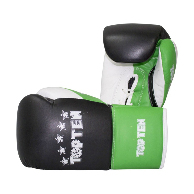 Top Ten Profi Tricolor Boxhandschuhe Schwarz Grün