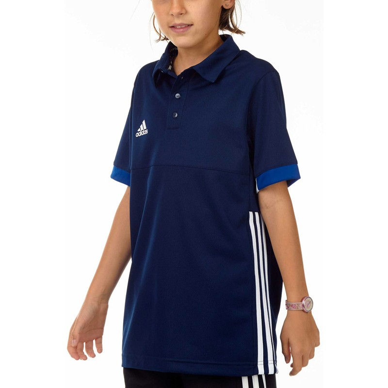 Abverkauf Adidas T16 Team Polo Kids Navy Blau Weiss AJ5246