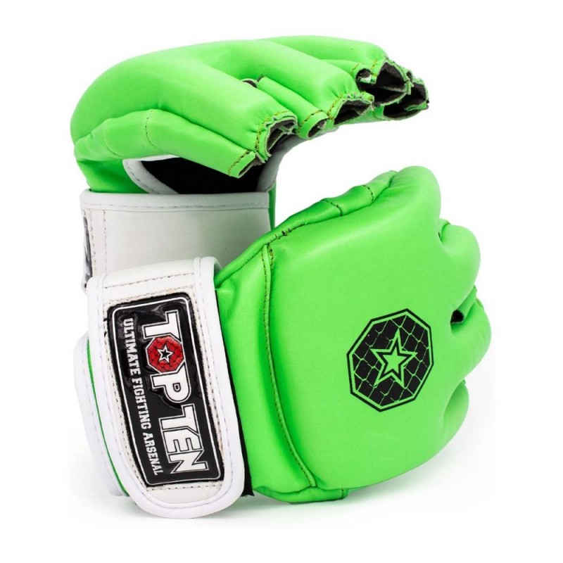 Top Ten C Type MMA Striking Gloves Grün Weiss