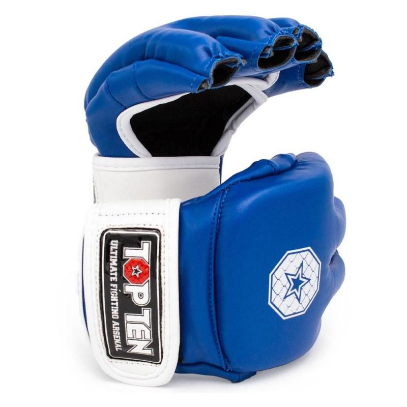 Top Ten C Type MMA Striking Gloves Blau Weiss