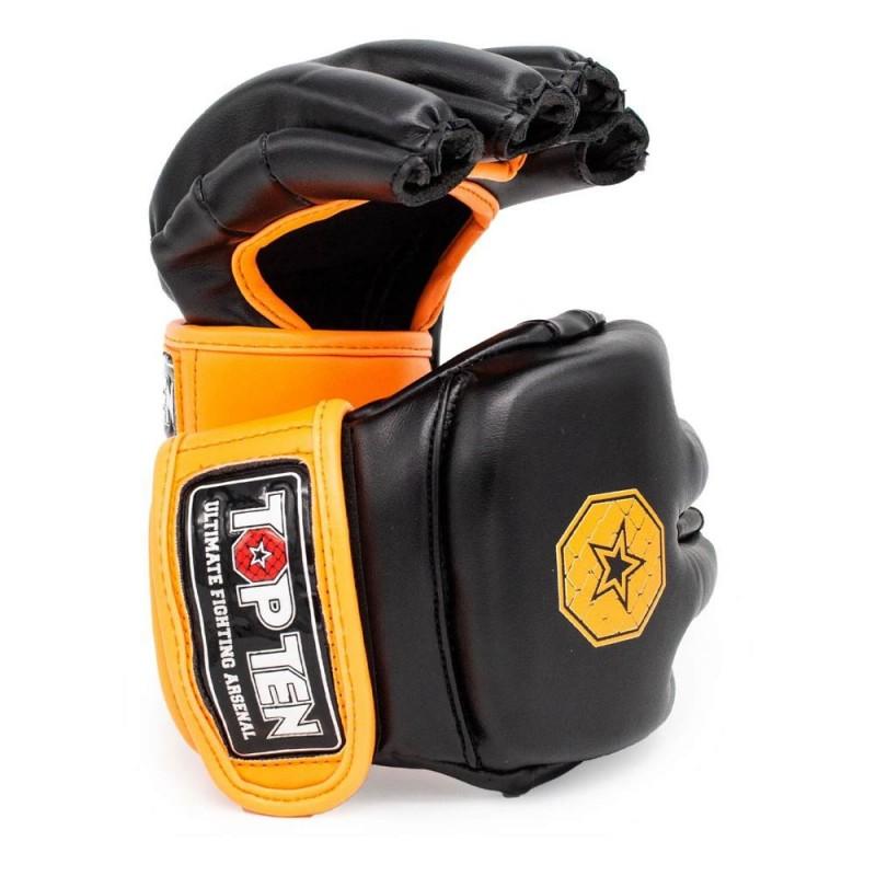 Top Ten C Type MMA Striking Gloves Schwarz Orange